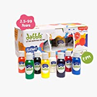 Dabble: Non Toxic Child Safe and Washable Finger Paints Set for kids I perfect birthday and return gift I 8 vibrant…