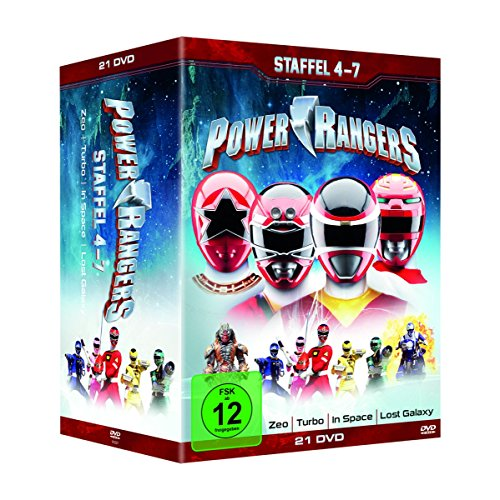Power Rangers - Staffel 4-7 (Zeo/Turbo/ In Space/ Lost Galaxy) (21 DVDs)