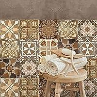 32 (Piezas) Adhesivo para azulejos 15x15 cm - PS00146 - Adria - Adhesivo decorativo para azulejos para baño y cocina - Stickers azulejos - Collage de azulejos