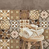 Confezione 12 Pezzi Formato 15x15 cm - PS00146 Adesivi in PVC per Piastrelle per Bagno e Cucina - Made in Italy - Stickers Design