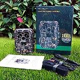 TEC.BEAN 12MP 1080P HD Wildkamera mit 120 Grad Weitwinkel, 940nm No-Glow Infrarot Fotofalle, 23m...