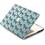"""[3 IN 1]BELK Macbook Pro 13 inch with Retina Display Case + Keyboard Cover + Screen Protector - Cute Zebra Mint Blue Hard Full-Body Protection Case for Macbook Pro 13.3"""" with Retina Display Case"""