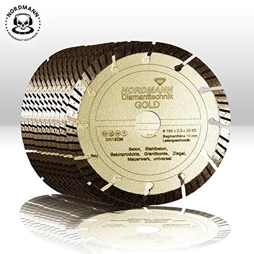 """Preisvergleich Produktbild 10x """"NORDMANN GOLD"""" Ø 150 mm - Diamanttrennscheiben für BAIER BDN Diamantfräse / Schlitzfräse"""