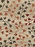 F & S GARDEN 160 x 230 cm alfombra moderna para sala de estar, dormitorio, pasillo u oficina. Colores beige y óxido. Fabricado en EUROPA OCCIDENTAL