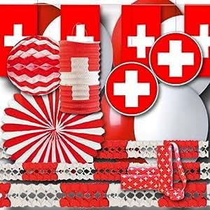 Schweiz Partydekoset Grundausstattung