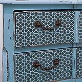 Amira–Plantilla de azulejos mosaico marroquí muebles suelo Wall Tile Stencil, XS