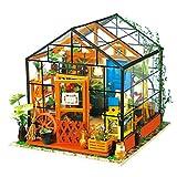 ROLIFE Miniatur Puppenhaus Küche Kits mit Licht DIY Holz Mini Haus Modell-Beste Geschenke für Erwachsene-Kinder 14 15 16 17 18 Jahre Alt (Cathy's Flower House)