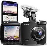 Cámara de Coche 4K 2160P con WIFI y GPS Dashcam Grabadora Ultra HD Dash Cam de Gran Ángulo 170° con G-sensor,Modo de Estacion