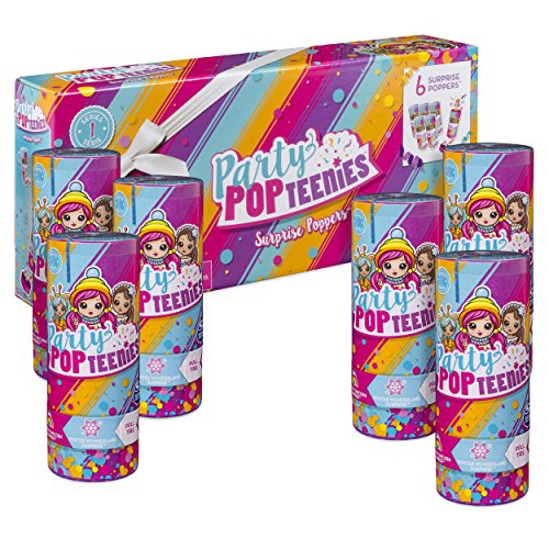 Party Popteenies Pack de 6 Crackers, 6045464