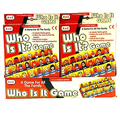 A to Z Who Is It? Traditional Childrens Travel Game Toy