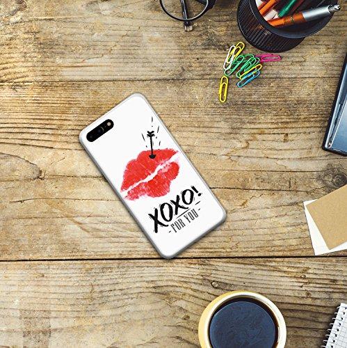 iPhone 7 Plus Hülle, WoowCase Handyhülle Silikon für [ iPhone 7 Plus ] Astronaut Herz - I Love To the Moon And Back Handytasche Handy Cover Case Schutzhülle Flexible TPU - Transparent Housse Gel iPhone 7 Plus Transparent D0497