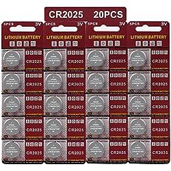 LAPROBING Batterie au Lithium (CR 2025, Blister de 20 Piles Lithium 3V) (CR2025(20 Piles))