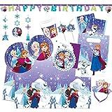 Procos 10115658 Die Eiskönigin Partyset Frozen Snowflakes, XXL
