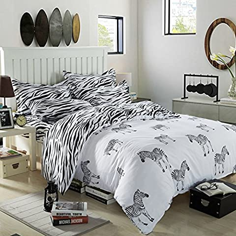Zhiyuan funda de edredón hoja plana funda de almohada con la cebra,cama de 90cm