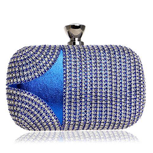 Borsa donna zaino donna borsa tracolla borsetta multifunzione sacchetto grande borse a spalla per lavoro shopping viaggio strass cena signore abiti da sera abiti mani piccoli sacchetti quadrati blu