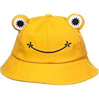 genenic Frog Bucket Hat for Men & Women,Cotton Vacation Fishing Cap Sun Hat Cartoon Cap