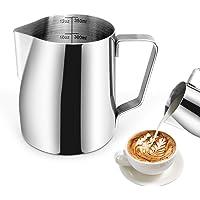 PTN Pot à lait en Acier Inoxydable, 350ml/12oz Double échelle Intégrée Pot à Lait en Acier Inoxydable, pour Le Café la…
