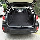 Dog Car Trunk Lid Pet Cargo Padding Non-Slip Bumper Flip Cover Cargo Seat Cover Car Waterproof,Black
