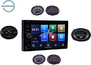 Woodman Doubledin WM-LX2023 with FM/Bluetooth/USB/DVD (1080px Full Hd) Car Stereo (Double Din) with 2 Pair (4 Speakers) of WM-1652 6 Inch Woodman Car Speakers & 1 Car Oval Speaker WM-6953