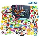 Color You Jouets de faveur 100PCS Party for Enfants fête d'anniversaire Remplisseurs de Sac de Prix boîte Jouets pour la Salle de Classe, Prix récompenses, remplisseurs Pinata, Prix de Carnaval