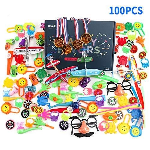 zeug, Color You 100 Teile Mix Beutel Kindergeburtstag Party Tasche Füllstoffe Preis Box Spielzeug für Klassenzimmer, Rewards Preise, Pinata Füllstoffe, Karneval Preise ()
