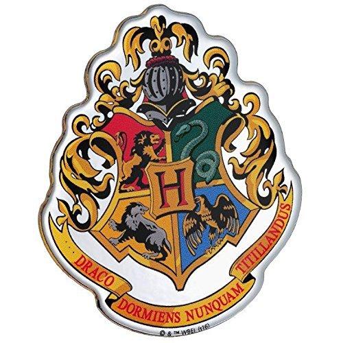 Fan Emblems Hogwarts Crest Auto Aufkleber gewölbt/Multicolor/Chrome Finish, Harry Potter Automotive Emblem gilt leicht für Autos, LKWs, Motorräder, Laptops, Handys, Windows, fast alles