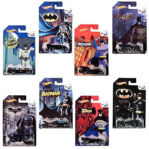 Hot Wheels Batman: Random set of 4 Diecast Cars by Mattel