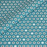 Baumwolle Stoff Meterware gemustert Geometrisch blau weiß