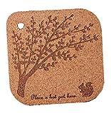 Baum-Muster Kork Holz-Wärmeisolierung Platzdeckchen