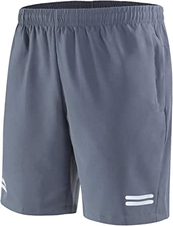 UDAREIT Mens Gym Workout Shorts with Zipper Pockets Quick Dry Running Shorts Breathable