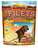 Zuke's Z-Filets Healthy Grain-Free Filets for Dogs, Grilled Chicken Recipe, 3.25-Ounce