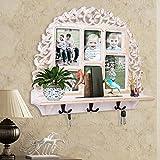 Wall Shelf W/ Photoframe & Hooks