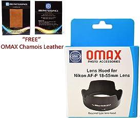 Omax Lens Hood for Nikon af-p 18-55mm vr Lens (Bayonet Type Lens Hood)