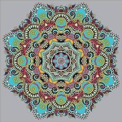 Cuadro sobre lienzo 100 x 100 cm: Mandala gray de Colourbox - cuadro terminado, cuadro sobre bastidor, lámina terminada sobre lienzo auténtico, impresión en lienzo