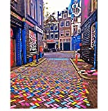 OKOUNOKO Amsterdam Colorful Street Landscape Painting by Numbers On Canvas Nordic Decoration Wall Decor DIY Digital Painting Sin Marco 40X50Cm