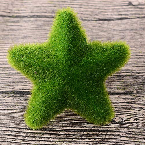 Künstlich Falsch Gras Herz Stern Kugel Hochzeit Zuhause Pflanze Dekor Ornament DIY (Heiliger star1#) - 3#, solid Star -