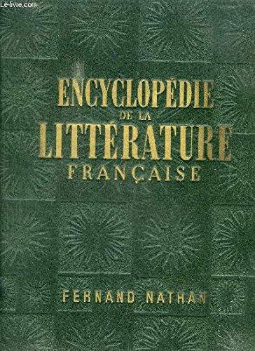 Encyclopédie de la littérature française par Jacques Nathan