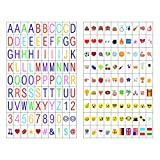 180 Cinema Signs Inklusive 90 Multi-Color Letters und 90 Multi-Color Emojis für A4 Cinematic Light Box