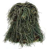 3D Cubierta de Cabeza de Camuflaje Gorro de Woodland para la Caza Gorra de Ghillie Neting para la Caza de Sniper