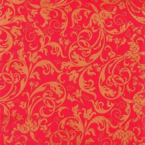 rnamente Gold-rot als Tischdeko für Anlässe wie Hochzeit, Geburtstag oder Jubiläum 33x33cm ()