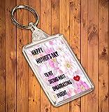 Happy Mother 's Day To My zweite die meisten peinliche, Eltern Cheeky/Funny doppelseitig Schlüsselanhänger, Muttertag Geschenk
