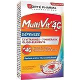 Forté Pharma - Multivit' 4G Défenses | Complément Alimentaire Forme et Tonus - 12 Vitamines et 7 Minéraux- Renforcé en Zinc,