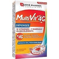 Forte Pharma Multivit' 4g Défenses   Multi-Vitamines Et Minéraux   Complément Alimentaire pour Adultes   12 Vitamines, 7…