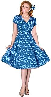 ddbb27476cd738 Sheen Damen Kleid Sadie Retro Floral Embroidery Swing Dress: Amazon ...