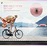OKPOW Pocket Selfie Drone WIFI Control Aerial Video Quadcopter Foldable RC Drone with One Key Selfie/Video 2.4G 6-Axis Gyro Altitude Hold 3D Flips&Rolls One-key Return Headless Mode Quadrotor With 2.0MP Camera HD 720p and LED light Pink