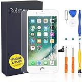 bokman Schermo Display LCD per iPhone 8 Plus Bianca, Touch Screen Digitizer Parti di Ricambio con Strumenti di Riparazione