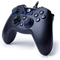 IFYOO V-one Wired Gaming Controller USB Gamepad For PC(Windows XP/7/8/10) & PlayStation 3 & Android - [Black&Blue]