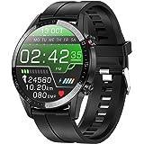 jpantech smartwatch, fitnesshorloge, volledig touchscreen, IP68 waterdicht, fitnesstracker, sporthorloge met stappenteller, p