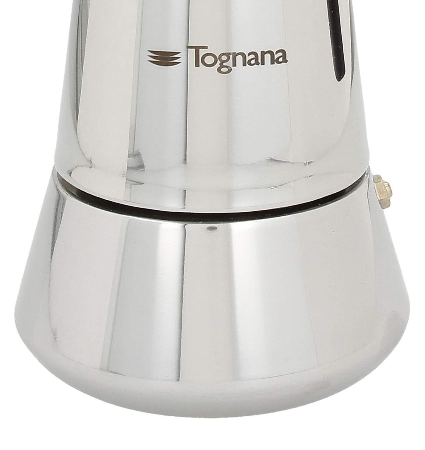 Tognana Riflex Induction Caffettiera 4 Tazze, Acciaio Inossidabile, Argento 5 spesavip