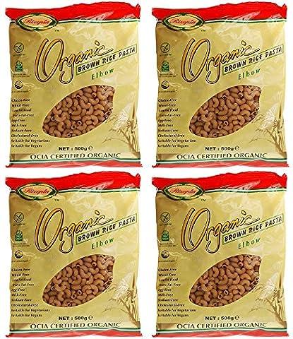 (4 PACK) - Rizopia - Organic Brown Rice Elbows | 500g | 4 PACK BUNDLE